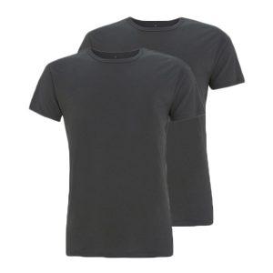 Bamboe T-shirts antraciet 2 stuks