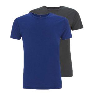 Bamboe T-shirts blauw en antraciet