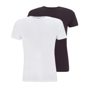 Bamboe T-shirts aubergine en wit