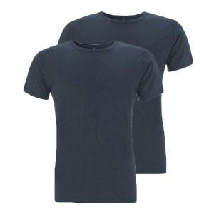 Bamboe T-shirts denim 2 stuks