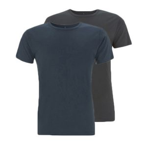 Bamboe T-shirts denim en antraciet
