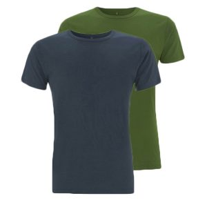 Bamboe T-shirts denim en groen