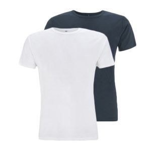 Bamboe T-shirts denim en wit