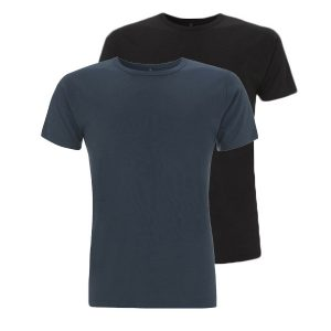 Bamboe T-shirts denim en zwart