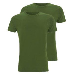 Bamboe T-shirts groen 2 stuks