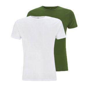 Bamboe T-shirts groen en wit
