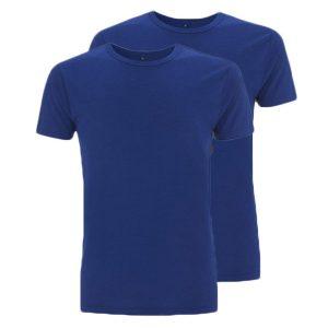 Bamboe T-shirts blauw 2 stuks