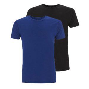 Bamboe T-shirts blauw en zwart