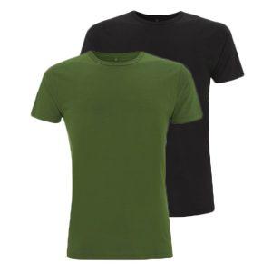 Bamboe T-shirts zwart en groen