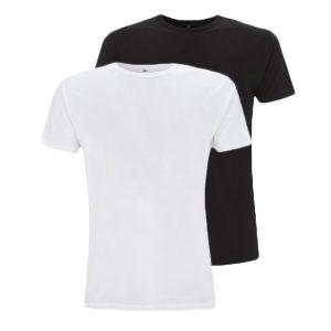 Bamboe T-shirts zwart en wit