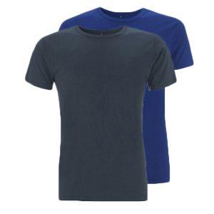 Bamboe T-shirts denim en blauw
