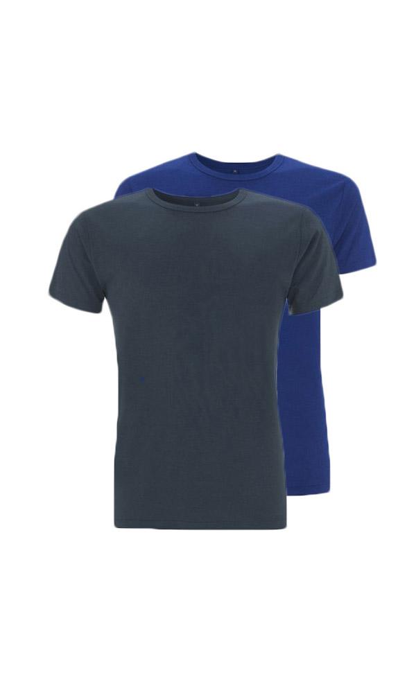 410c7118991 Bamboe T-shirts denim en blauw, regular fit, ronde hals - Bamboe ...