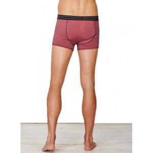 Bamboe boxershort coral gestreept achterkant Bamboe Fashion