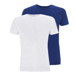 Bamboe T-shirts blauw en wit