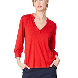 Bamboe blouse rood