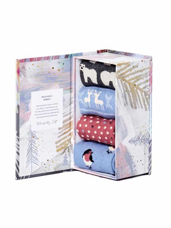 Bamboe dames sokken kado box