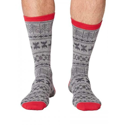 Bamboe sokken Noël grijs Bamboe Fashion