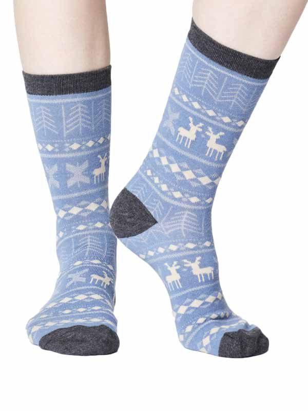 Bamboe sokken hertjes