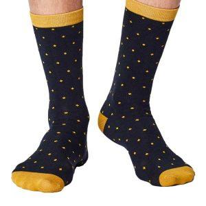 Bamboe sokken snippers blauw geel