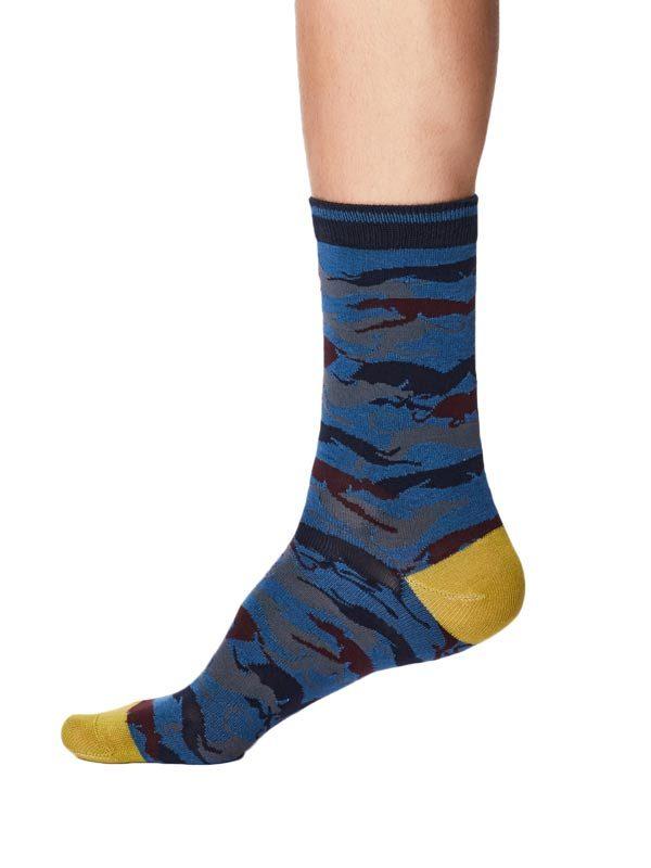 Bamboe sokken met whippet blauw label Thought maat 41 t/m 46