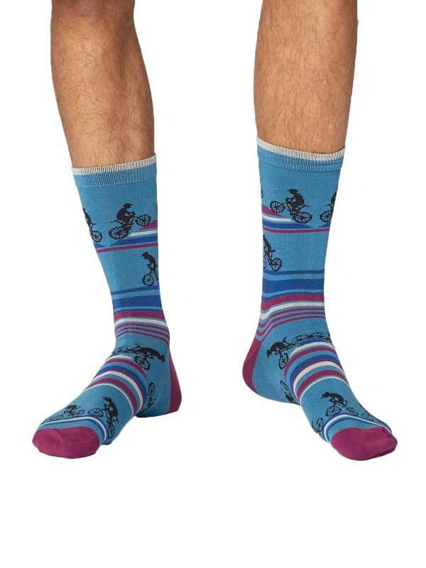 Bamboe sokken fietsen blauw Thought 41 t/m 46