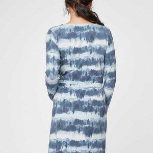 Bamboe jurk met blauwe golf Bamboe fashion