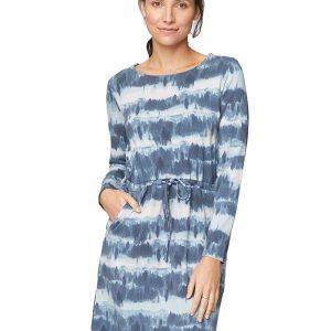 Bamboe jurkje met blauwe golf bamboe fashion