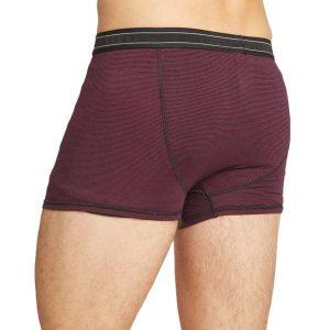 Bamboe boxershort donker rood gestreept Bamboe Fashion