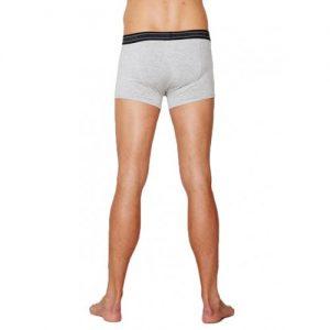 Bamboe boxershort grijs achterkant Bamboe Fashion