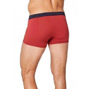 Bamboe boxershort roest rood achterkant Bamboe Fashion