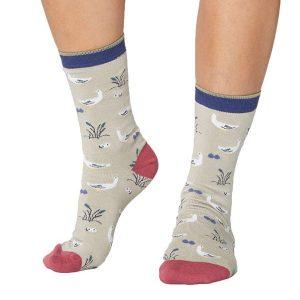 Bamboe sokken ganzen creme Bamboe Fashion