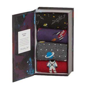 Bamboe sokken kado box galactica Bamboe Fashion