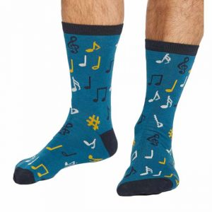 Bamboe sokken muzieknoten Bamboe Fashion