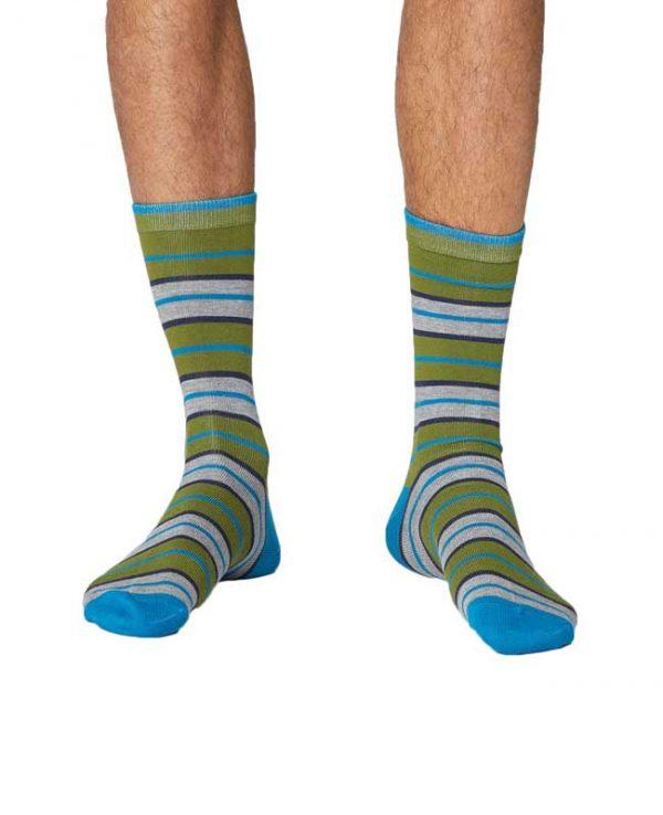 Bamboe sokken rugby strepen Bamboe Fashion