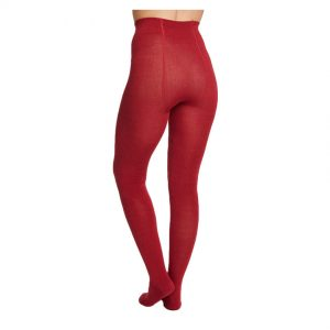 Bamboe maillot warm rood achterkant Bamboe Fashion