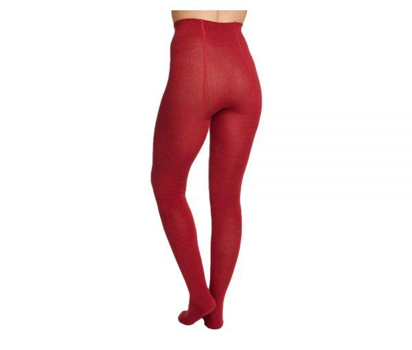 Bamboe maillot warm rood achterkant Bamboe Fashion